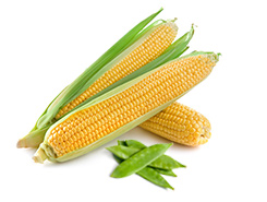 corn and snow peas